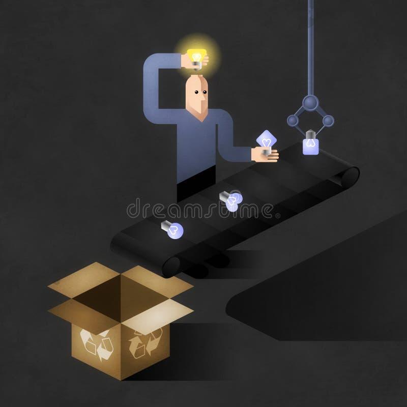De Vinder van het idee stock illustratie