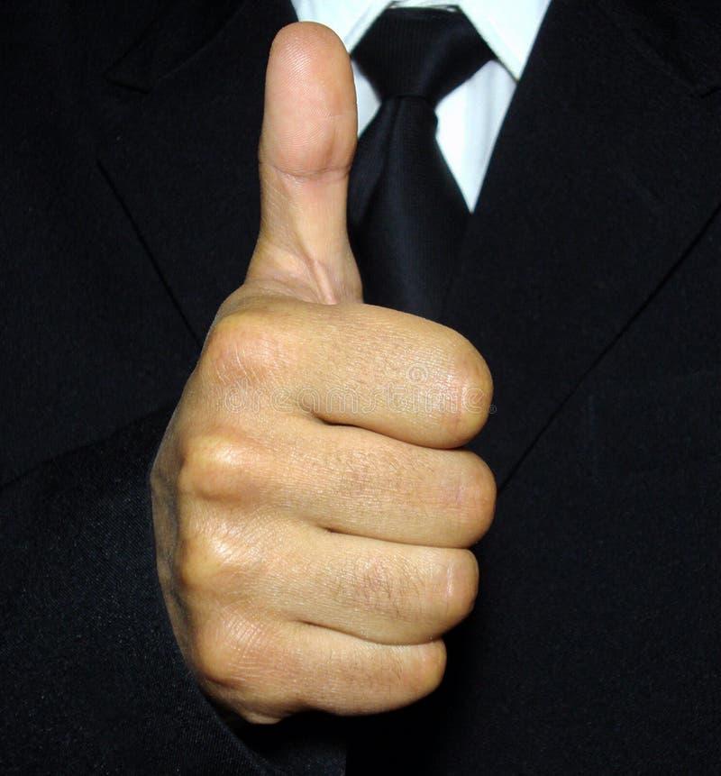 De vinger van de duim stock fotografie