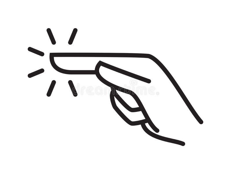 De vinger vectorpictogram van de aanrakingshand Het scherm kiest klik, duwkraan, aanraakaanwijzerteken stock illustratie