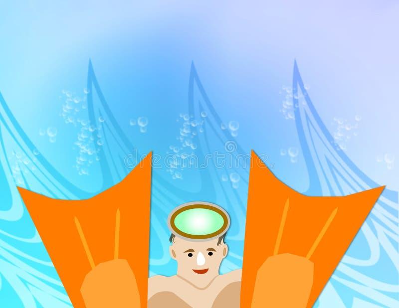 De Vinnen van de zwemmer vector illustratie