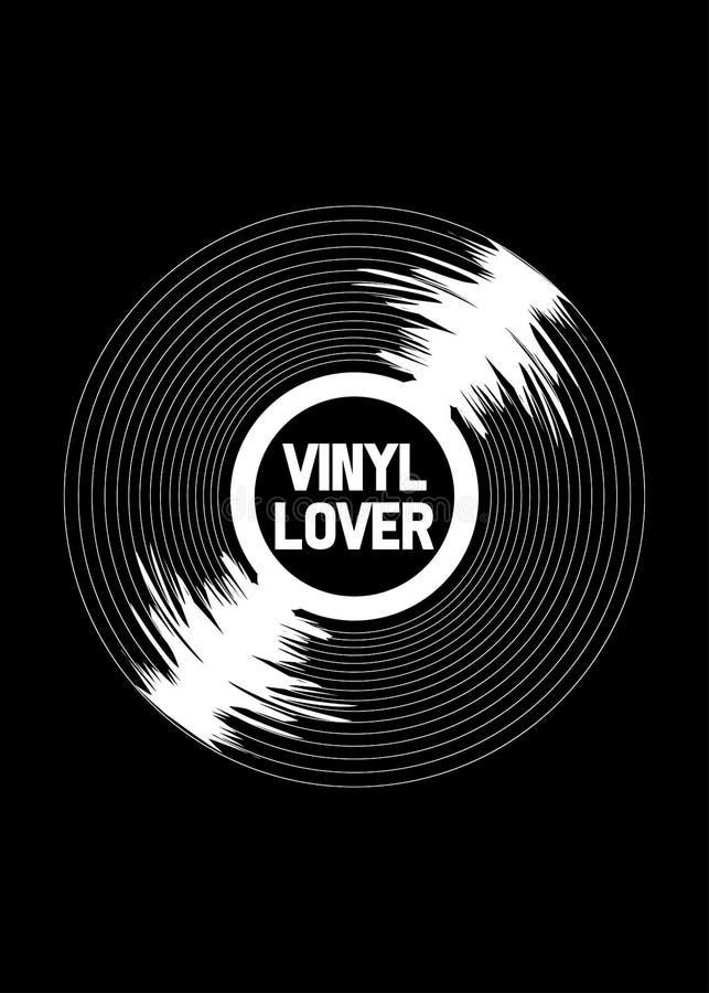 De vinylaffiche van de minnaar uitstekende retro muziek royalty-vrije illustratie