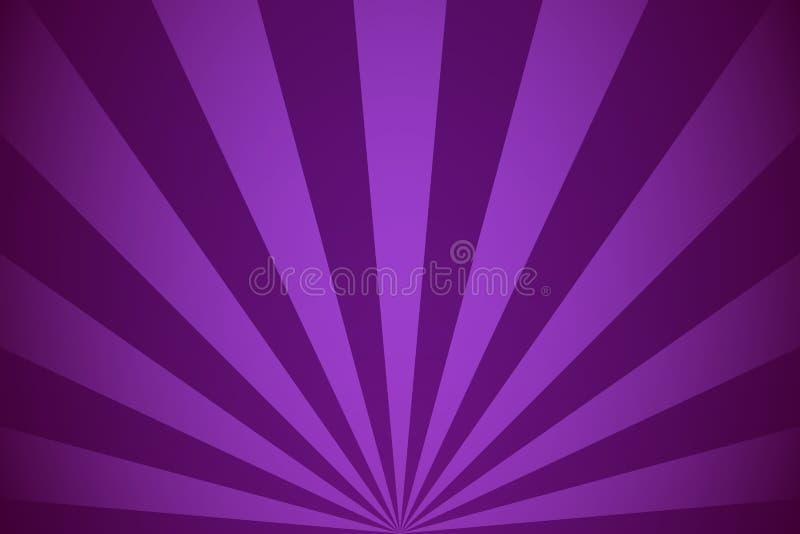 De violette radiale achtergrond van stralen abstracte lijnen vector illustratie