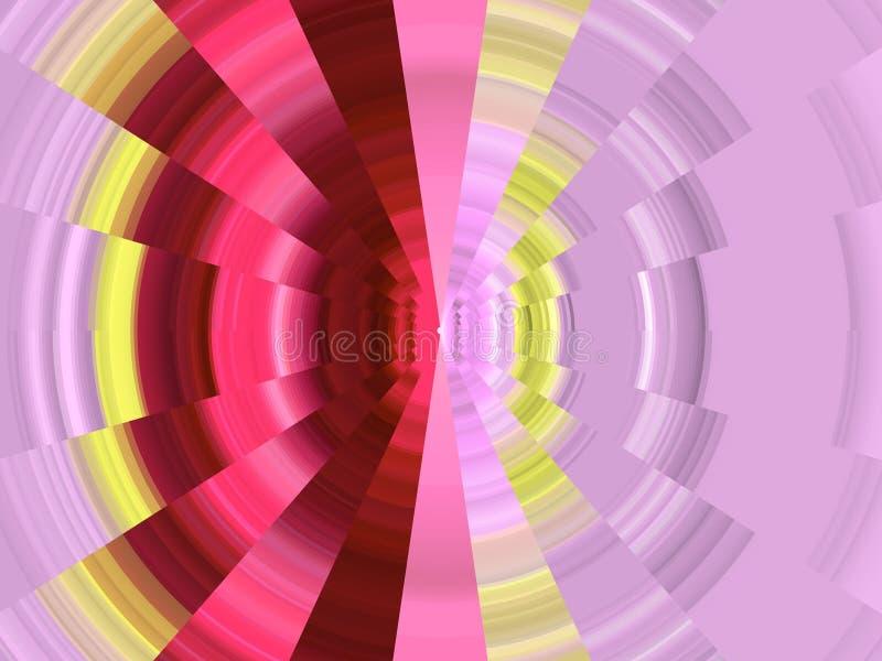 De violette roze cirkelmeetkunde, vat levendige achtergrond, abstracte textuur samen vector illustratie