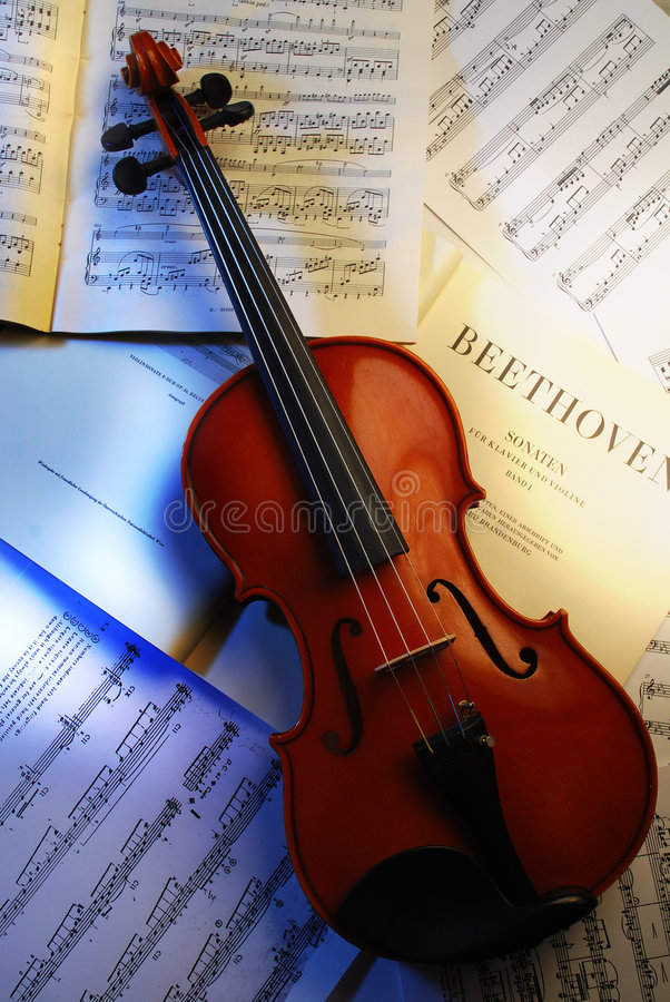 De viool (Beethoven 3) royalty-vrije stock foto
