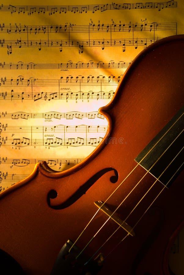 De viool met score stock foto's