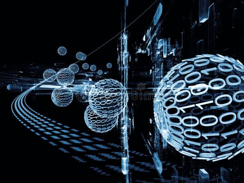 De virtuele Stroom van de Informatie vector illustratie