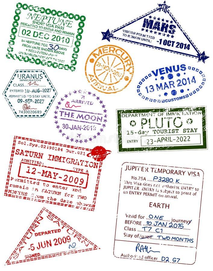 De visa van de planeet vector illustratie