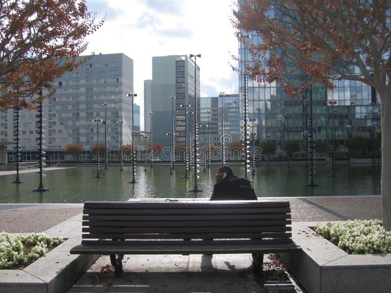 De visie van La Défense calme royalty-vrije stock foto's