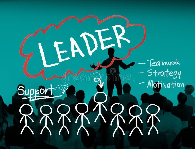 De Visieconcept van leidersleadership management responsibility stock fotografie