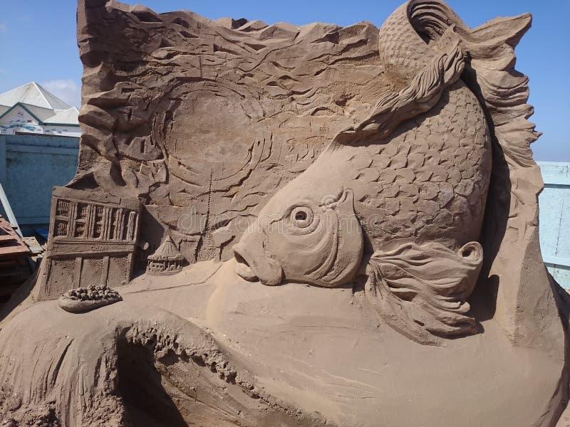 De vissen Engeland van het zandfestival stock fotografie
