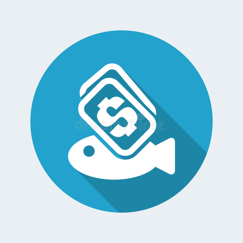 De vissen kopen pictogram stock illustratie