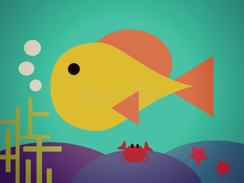 De vissen leven stock foto's