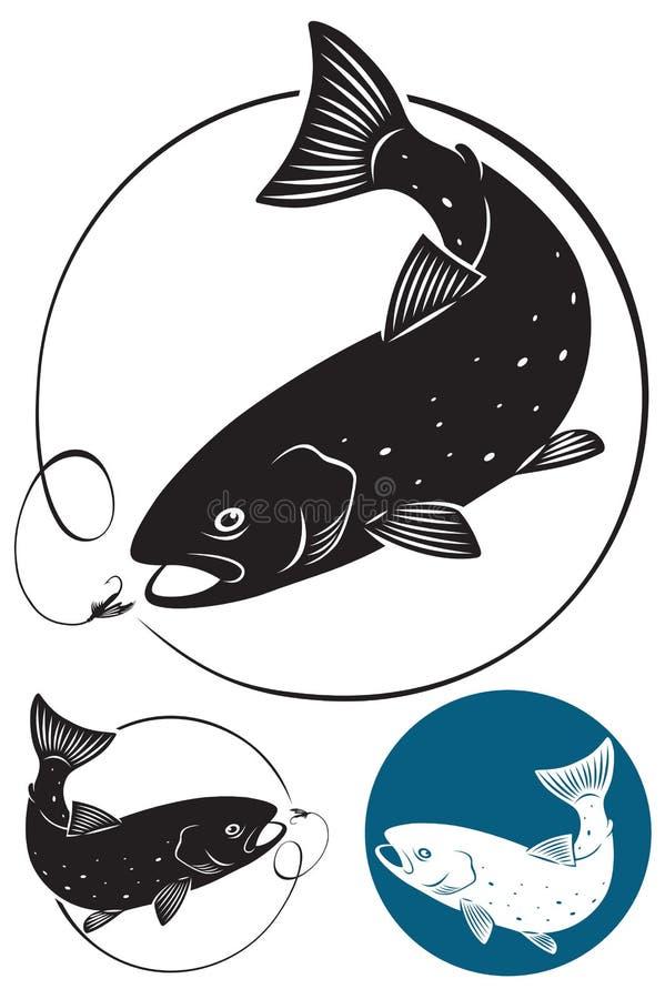 De vissen van de forel royalty-vrije illustratie