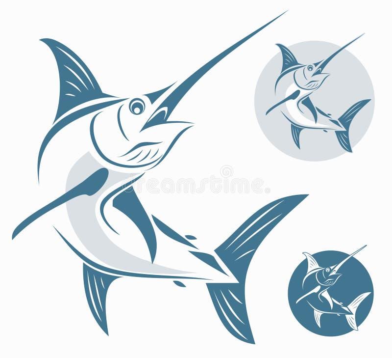 De vissen van de marlijn royalty-vrije illustratie