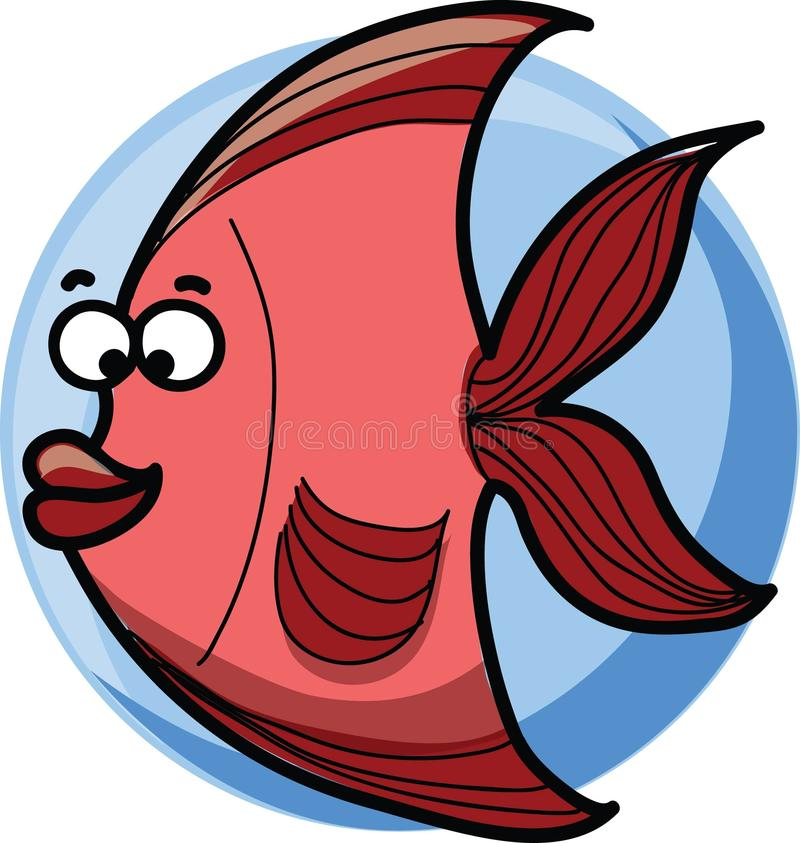 Beeldverhaalvissen, vector vector illustratie