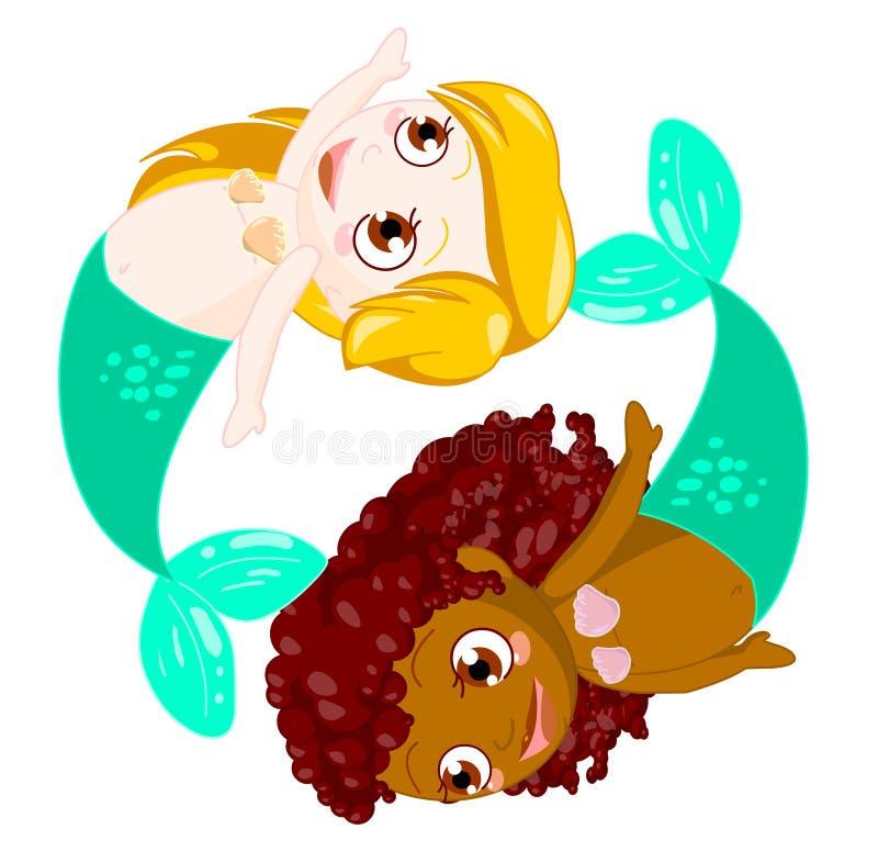 De Vissen van het kind stock illustratie