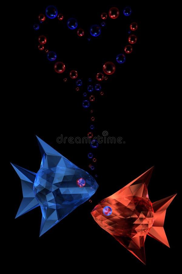 De vissen van het kristal stock illustratie