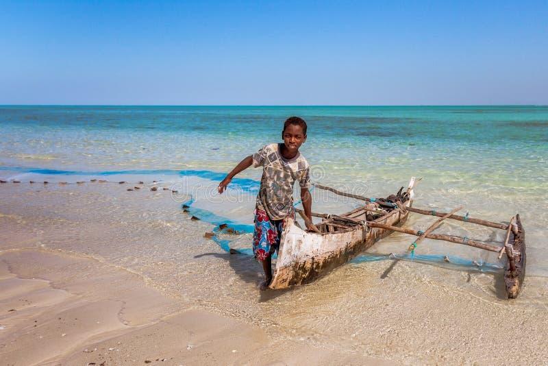 De visser van Vezo royalty-vrije stock foto