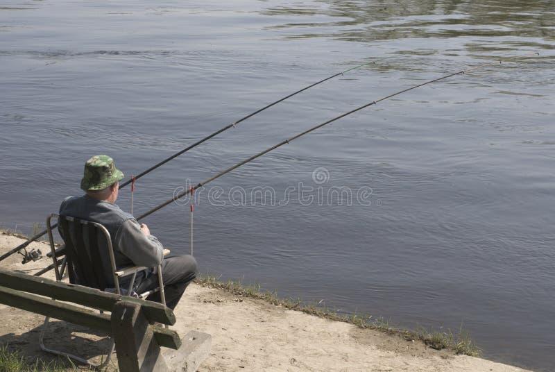 De visserij van de mens royalty-vrije stock afbeelding
