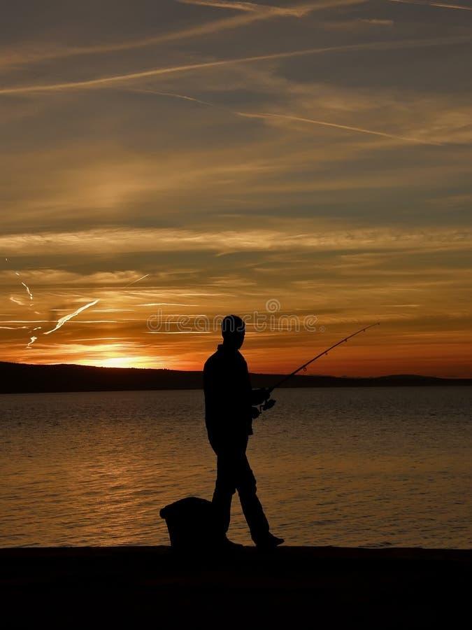De visserij van de mens royalty-vrije stock fotografie