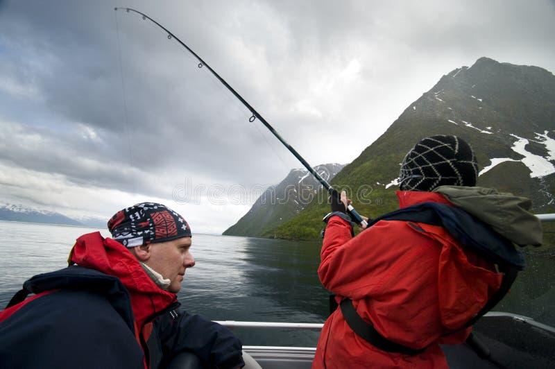 De visserij van de vader en van de zoon stock fotografie