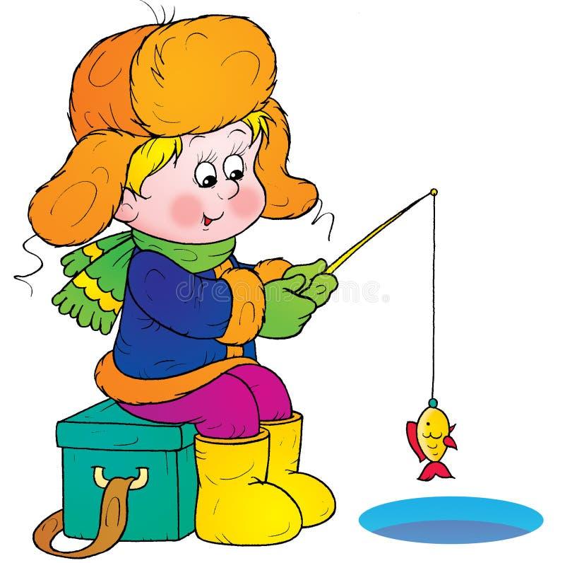 De visserij van de winter vector illustratie