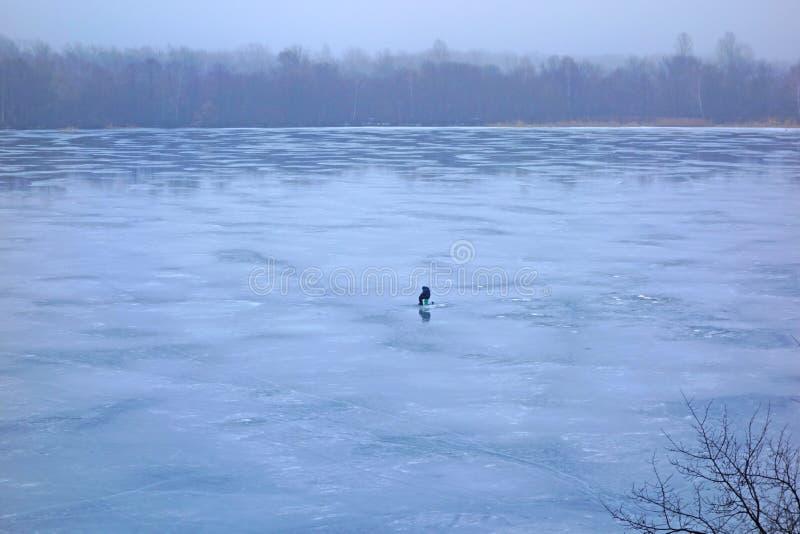 De visserij van de winter royalty-vrije stock afbeelding