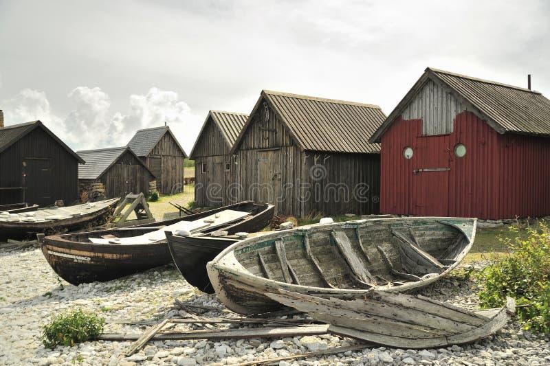 De visserij van dorp royalty-vrije stock afbeelding