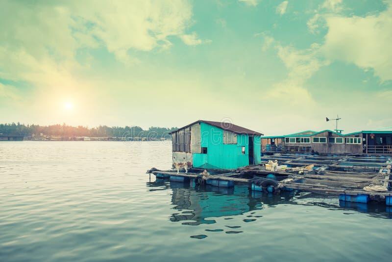 De visserij van dorp in China stock foto