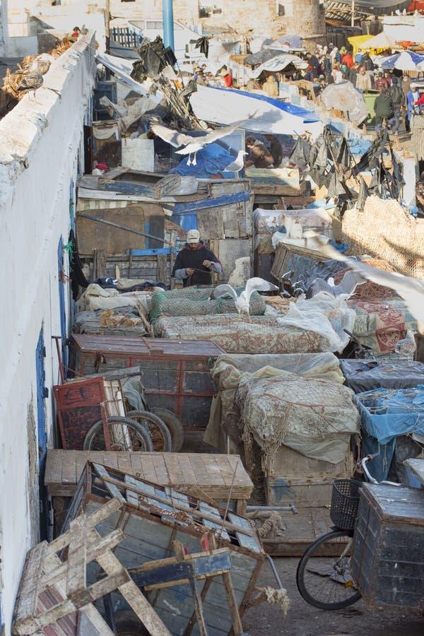 De visserij van dorp Marokko royalty-vrije stock afbeeldingen