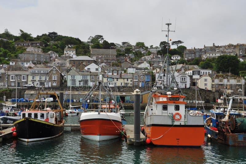De visserij van haven van Newlyn Cornwall, Engeland, het UK royalty-vrije stock foto's