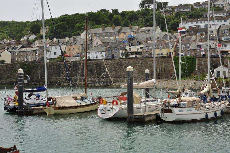 De visserij van haven van Newlyn Cornwall, Engeland, het UK royalty-vrije stock afbeeldingen