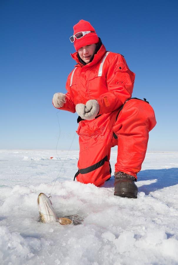 De visserij van snoeken stock fotografie
