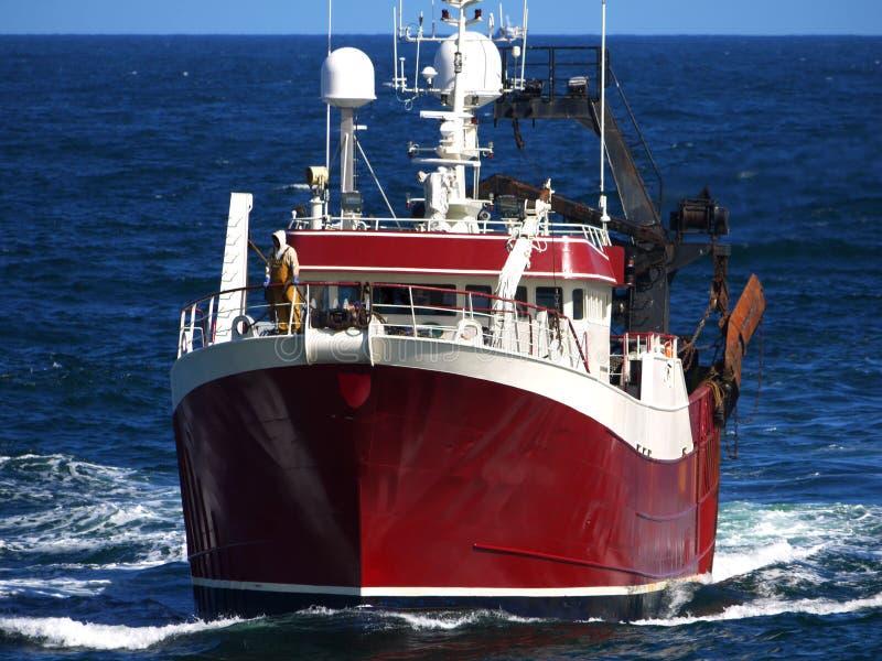 De visserij van Treiler C stock afbeeldingen