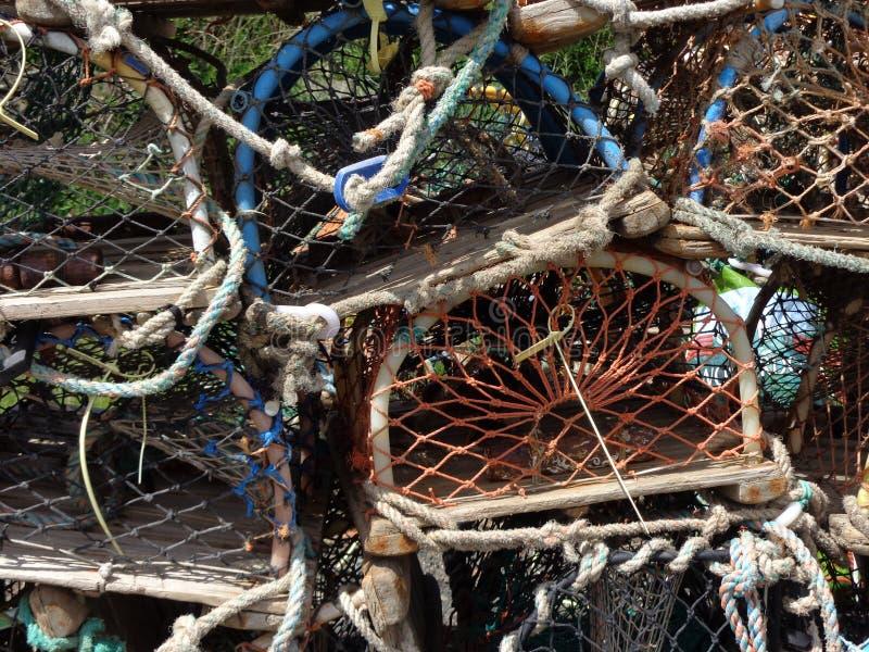 De visserij van vismanden bij Craster-Haven Northumberland stock foto