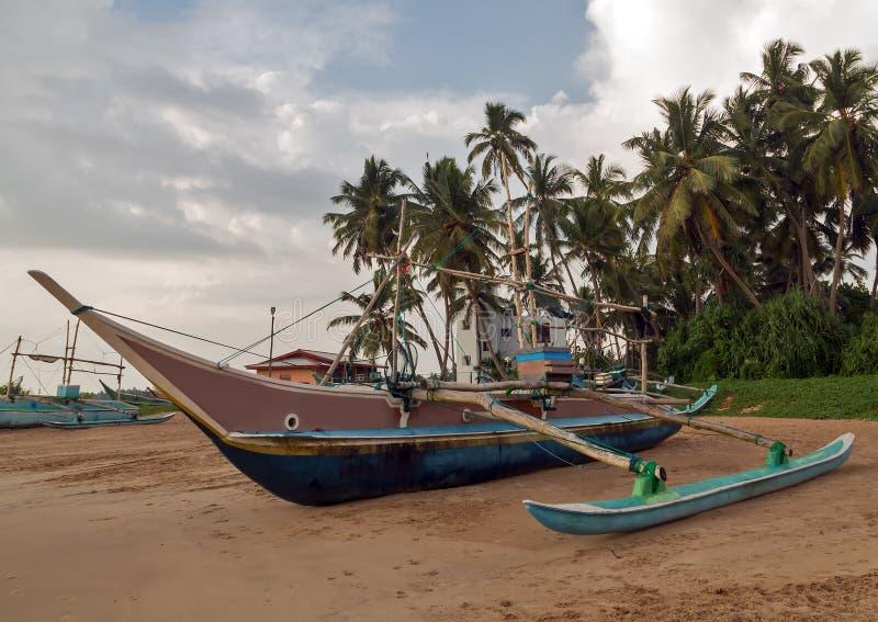 De visserijcatamarans van Sri Lanka, vissenboten royalty-vrije stock fotografie