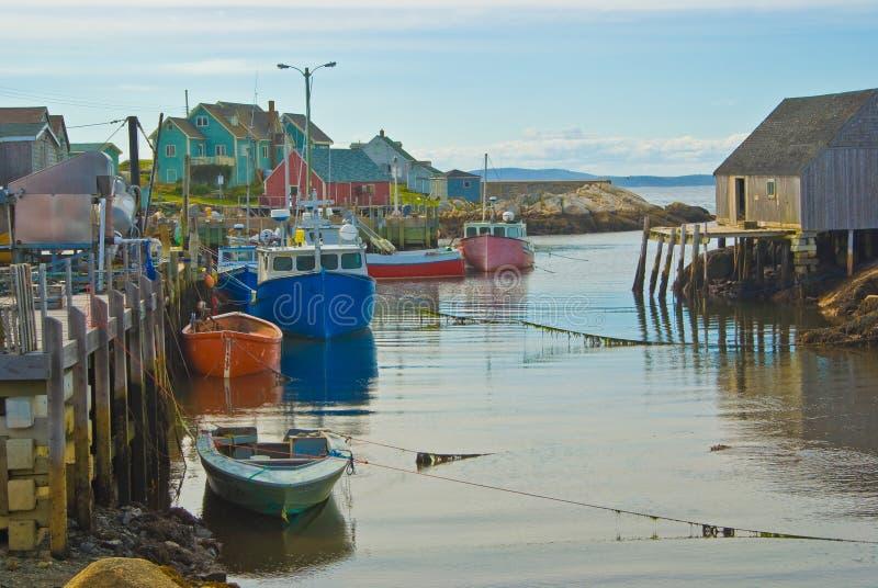 De visserijdorp van de Inham van Peggy stock foto