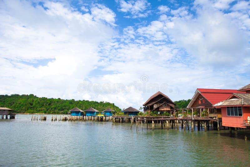 De visserijdorp van Thailand Koh Chang Bang Bao royalty-vrije stock foto