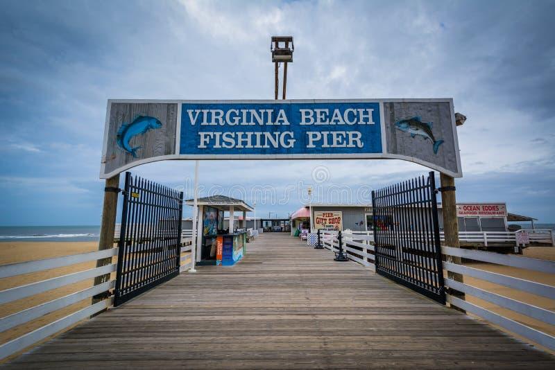 De Visserijpijler in Virginia Beach, Virginia royalty-vrije stock foto