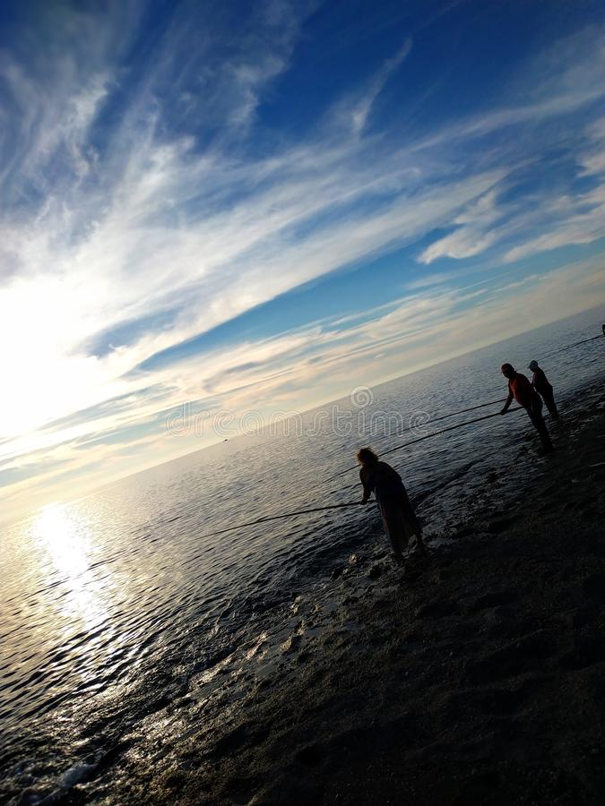de vissers van het Middellandse-Zeegebied royalty-vrije stock foto's