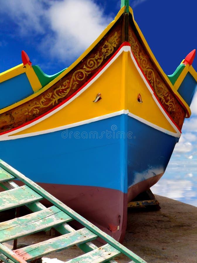 De Vissersboot van Malta stock afbeelding