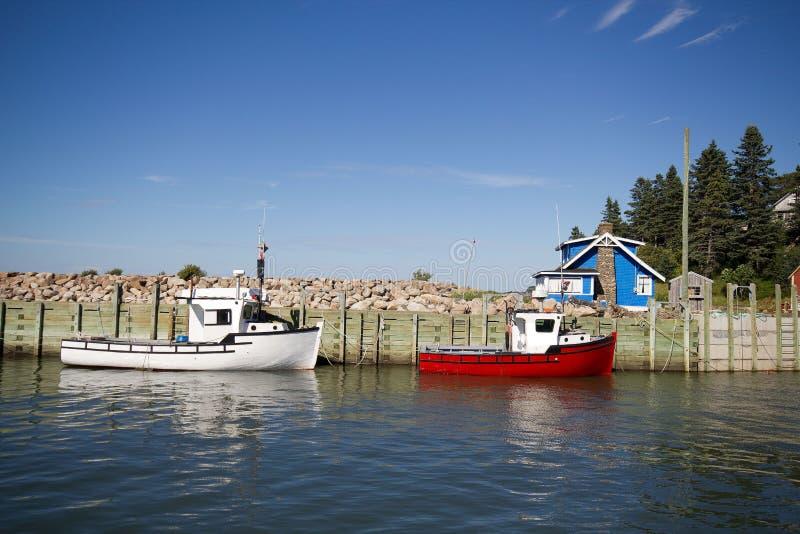 De vissersboten van de zeekreeft   royalty-vrije stock foto's