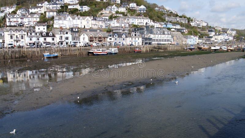 De vissershaven van Cornwall stock afbeeldingen