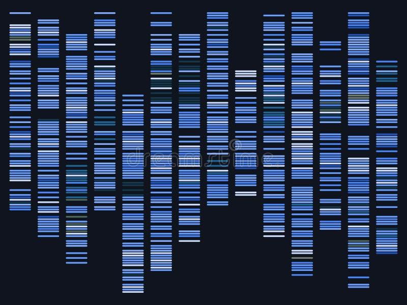 De visualisatie van Genomicgegevens vector illustratie