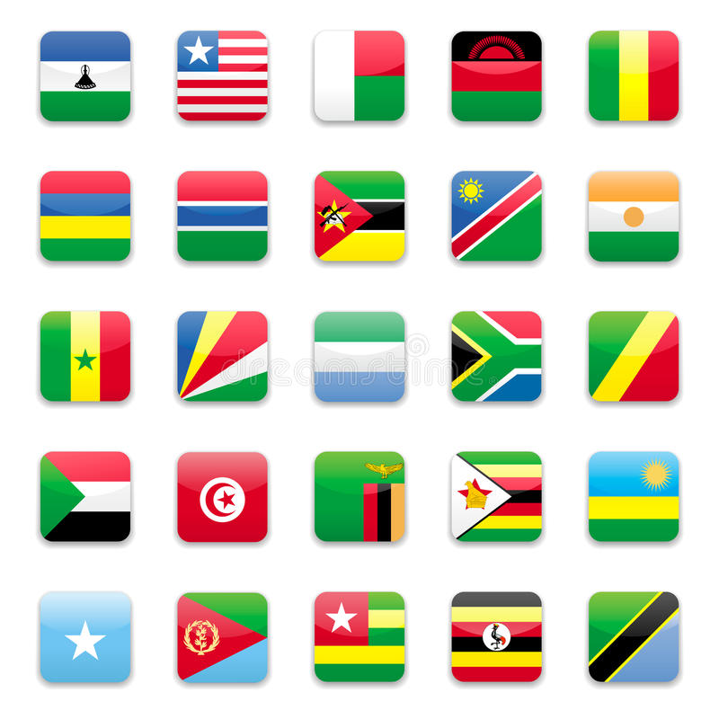 De vlag B van Afrika