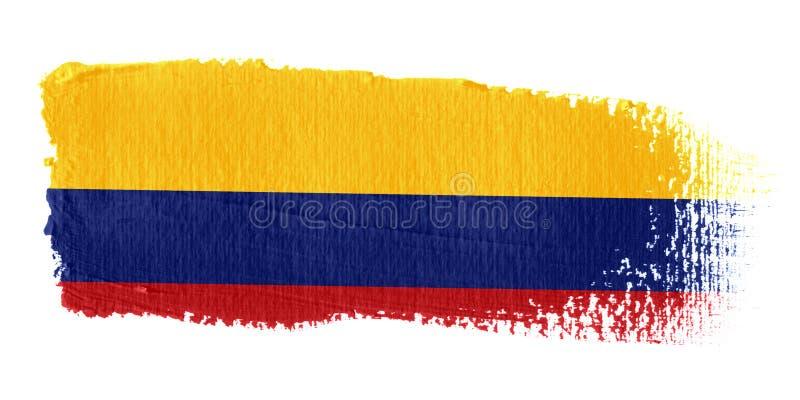 De Vlag Colombia van de penseelstreek