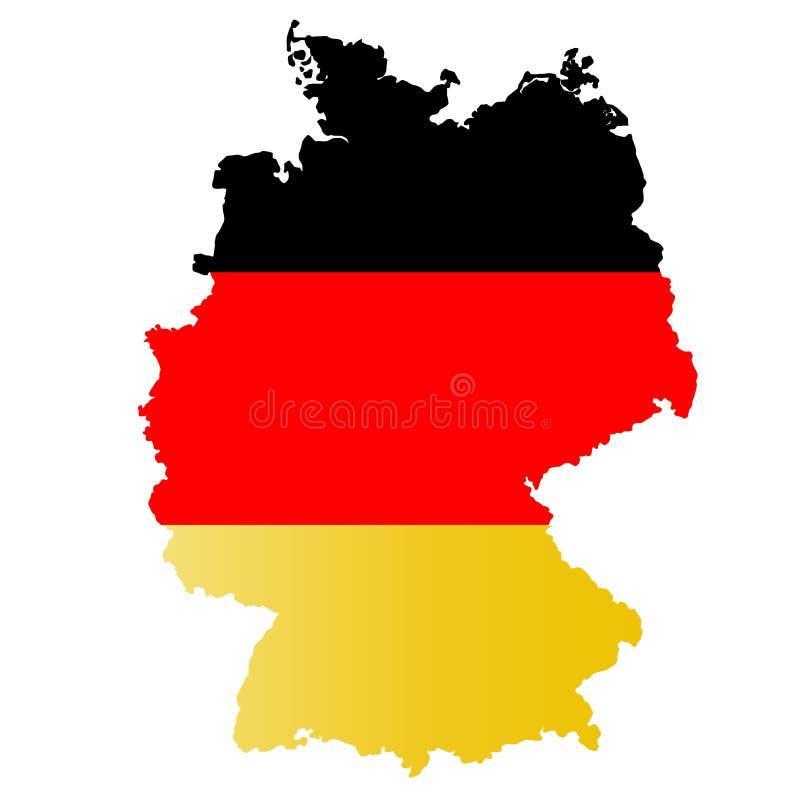 De vlag Deutschland van kaartduitsland stock illustratie