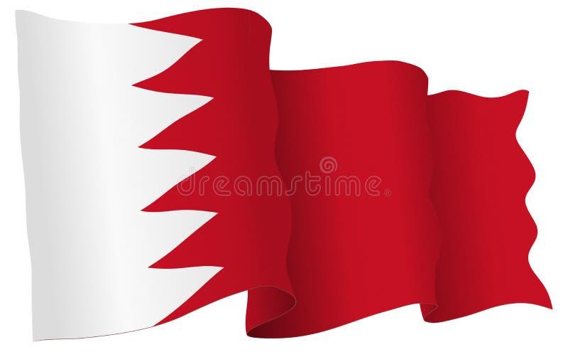 De Vlag die van Bahrein Vectorillustratie golven vector illustratie