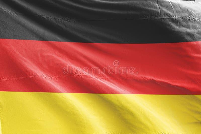 De Vlag die van Duitsland, 3D Realistische Teruggegeven Vlag van Duitsland golven vector illustratie