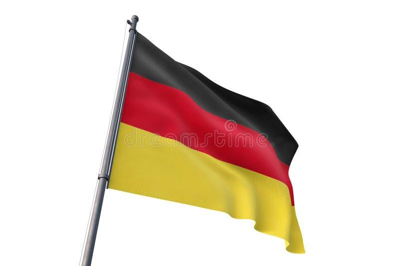 De vlag die van Duitsland geïsoleerde witte 3D illustratie golven als achtergrond vector illustratie